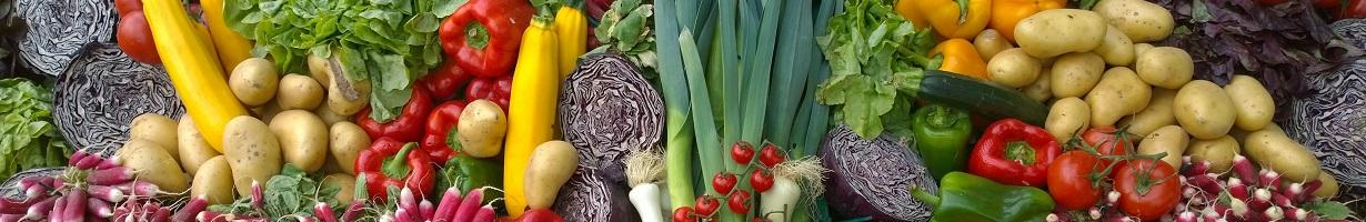 Wide range of vegetables