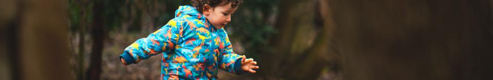 child playing in the wildlife garden